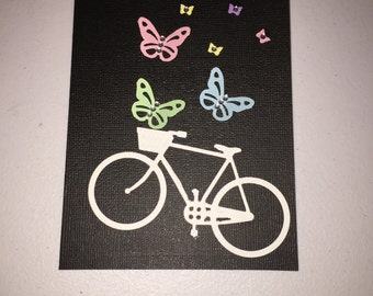 bicycle and butterflies