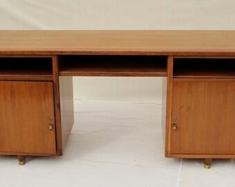 Nucraft mid century walnut office desk