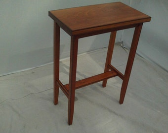 Cherry Table with Walnut Edgeing