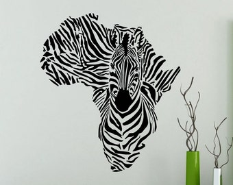 Zebra Wall Sticker Africa Wild Animals Nursery Vinyl Decal Home Room Interior Decoration Waterproof High Quality Mural (47xx)