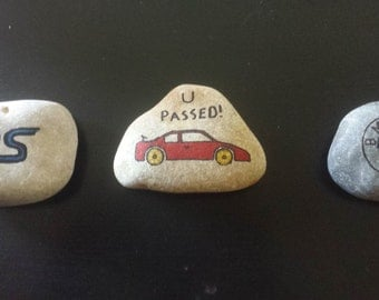 Cars Personalised Mediterranean Pebble