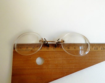 Antique 1900s Spectacles Pince Nez Eye Glasses