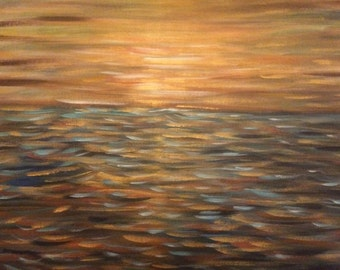 """Abstract painting, """"sky of gold"""" SOLD"""
