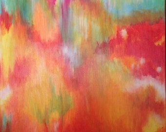 """Abstract painting """"Fire in the Sky"""""""