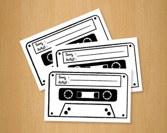 Wedding / Party Song Music Request Card - Download Printable Version
