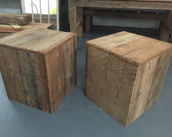 Reclaimed Barnwood Cube