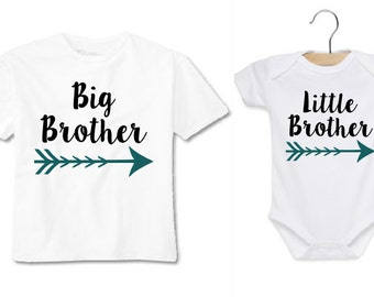 Big Brother/ Little Brother shirt set Toddler and Baby!