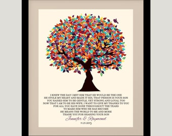 Mother of Groom Gift From Bride I Knew The Day Oak Fruit Tree Wedding Poem Thank You Art Print Choose Paper, Canvas or Tin Sign #1167
