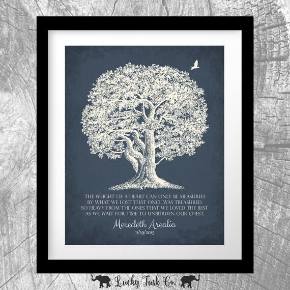 Personalized Memorial Oak Tree In Loving Memory Poem Sympathy