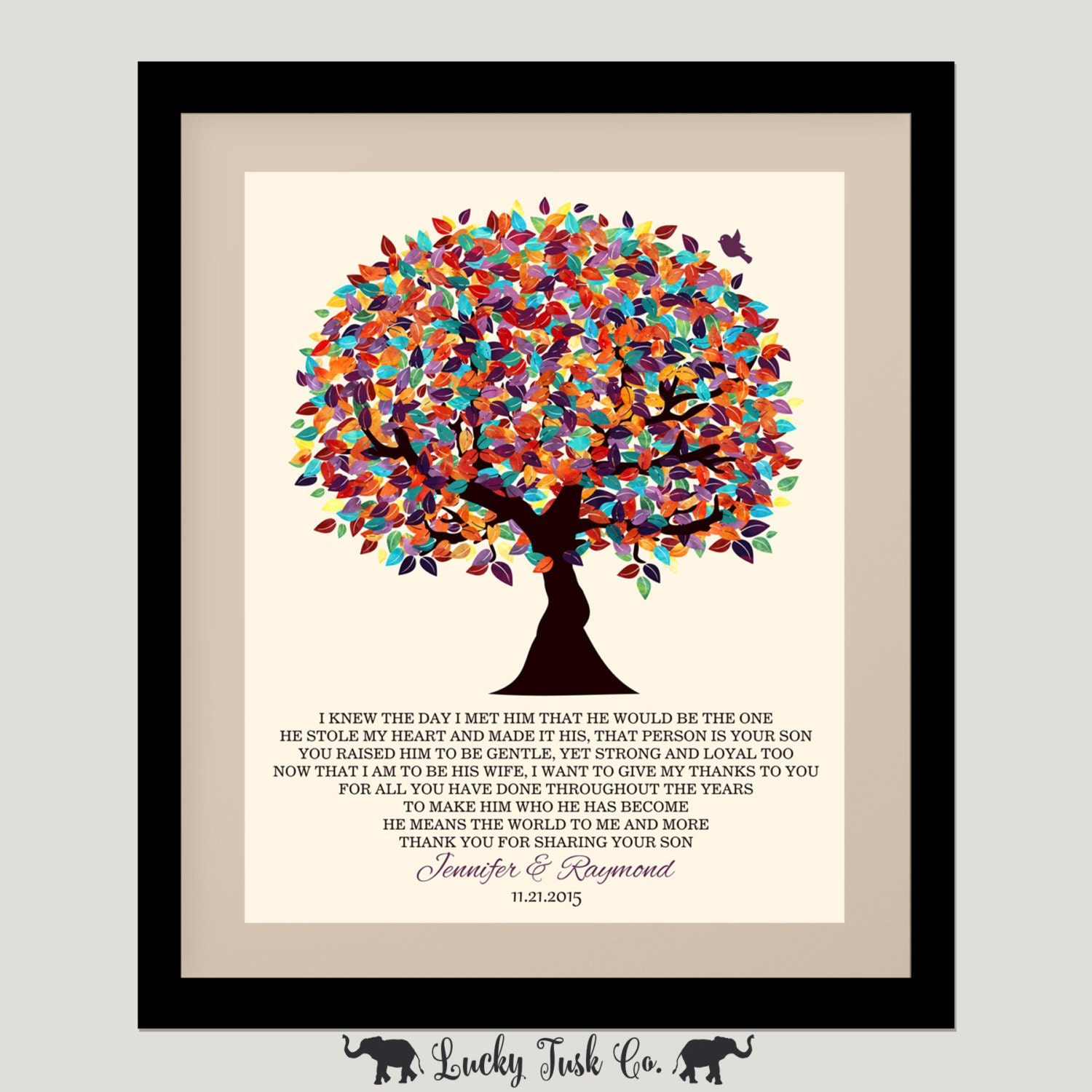 Mother Of Groom Gift From Bride I Knew The Day Oak Fruit Tree