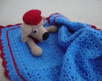 "Max, Dog Huggie Blanket, Security Blanket, 25""x25"""