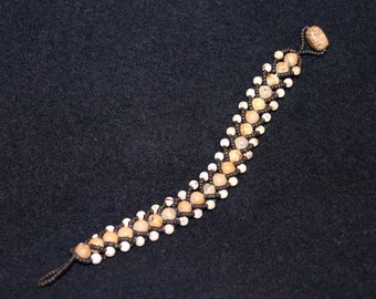 Jasper and Seed Bead Bracelet