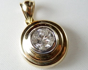 DIAMOND PENDANT In 14K Gold Setting with APPRAISAL
