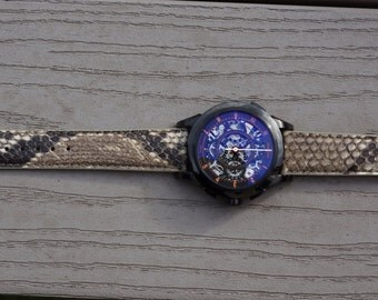 Leather Strap - Natural Python (Watch and Buckle NOT Included)