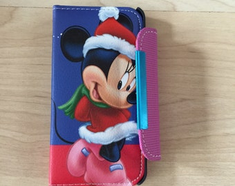 Disney Minnie Mouse PU Leather Case For iPhone SE/ 5 / 5s Ship From NY