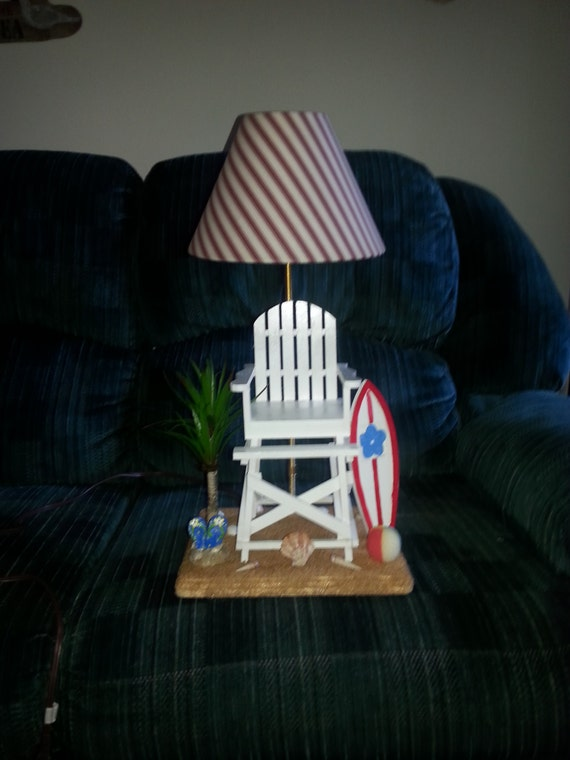 cute lifeguard chair lamp. Black Bedroom Furniture Sets. Home Design Ideas