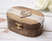Beach Wedding Ring Box Wedding Ring Holder Ring Bearer Nautical wedding jewelry Boxes Wood storage