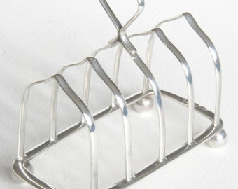 Solid Silver Four Slice Toast Rack 1906