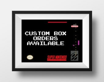 Custom Box SNES Order Print