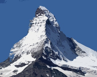 The Matterhorn Modern Art Canvas A2
