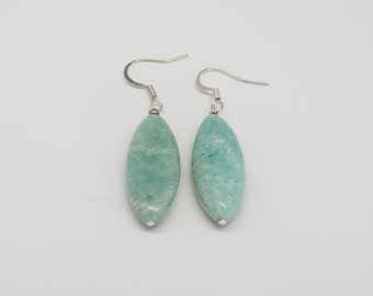 Amazonite Earrings - Reiki Infused