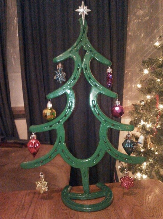 Horseshoe christmas trees by wildwilhorseshoeart on etsy for Where to buy horseshoes for crafts