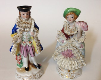 Vintage Made in Occupied Japan Figurine Couple