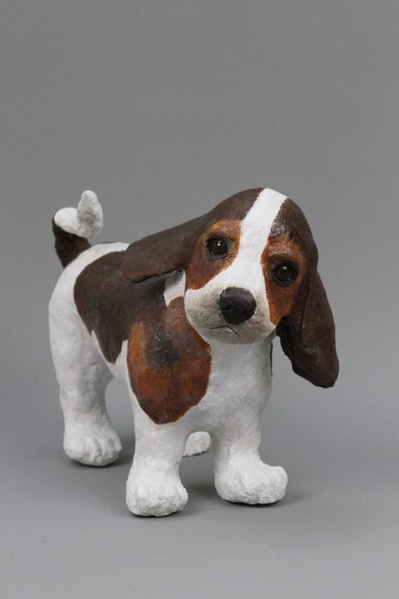 sculpture papier mache of a beagle puppy by. Black Bedroom Furniture Sets. Home Design Ideas
