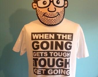 Billy Ocean - When The Going Gets Tough Music T-Shirt (The Tough Get Going) - White Shirt