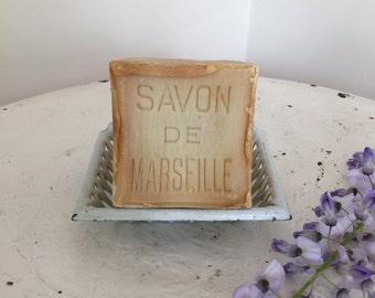 Vintage French enamelware soap dish