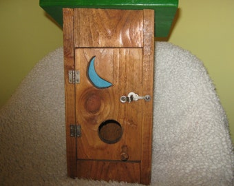 Outhouse Birdhouse Bird house Primitive Rustic