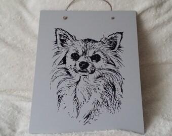 Handmade Decoration Plate Chihuahua