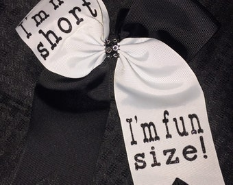 Softball Bow / Volleyball / Cheer / I'm not short I'm fun size!  Hair Bow