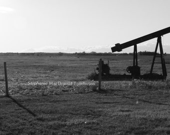 Fine Art Photograph  Black & White Oil Pump Photo