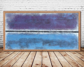 Acrylic Painting Original Painting Canvas Art Abstract Painting Blue Abstract