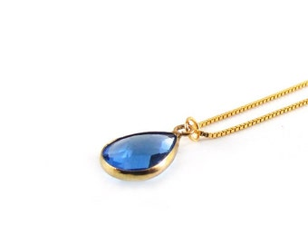 Necklace | Sky blue | Gold