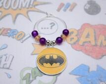Batman - Wine Glass Charm - Wedding Favor - Party Favour - Geek Gifts - Fandom