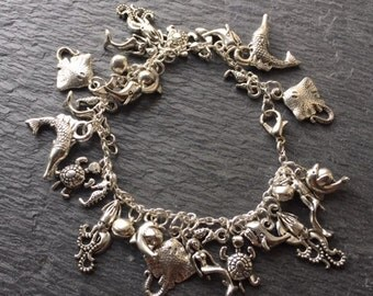Reduced - Creatures of the deep charm bracelet