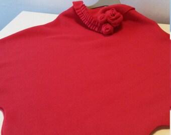Wrap baby in red fleece