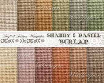 COMMERCIAL,Burlap Digital Paper,Shabby Burlap Digital Paper,Pastel Burlap Paper,Pastel Paper,Colorful Paper,Autumn Paper,Fall,Digital Linen