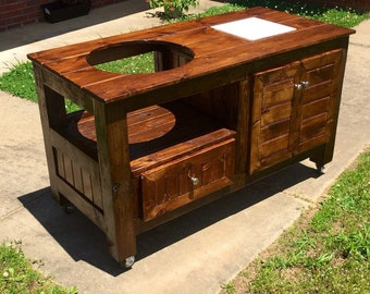 Big Green Egg Table - Grill Table