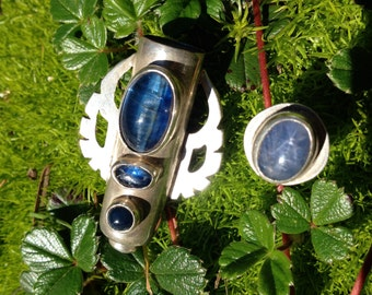 Kyanite and Sapphire  container