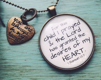 For this child I prayed necklace