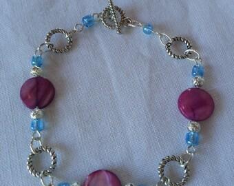 Beaded Bracelet Pink Shell Bracelet