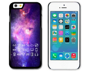 Hipster Icons in Space Including Cool Moustache for iPhone 4S 5S 5C 6 6S 6+ Samsung S3 S4 S5 A3 S6 Edge HTC Xperia