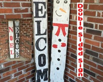 Noel, Holiday signs, Noel, Rustic Christmas signs, Rustic Christmas decor, Primitive snowman, Primitive Christmas decor, Wooden Snowman sign