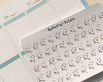 Hand Drawn Tea Bag Stickers Perfect for Planners
