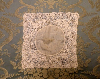 Antique lace handkerchief. 1900