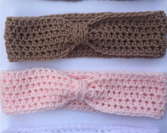 woman's headbands, womans crochet headbands,cinched headbands, earwarmers, crochet earwarmers, gifts for her, winter accessories
