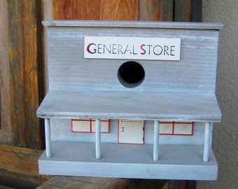 Old West General Store Birdhouse, Made in USA